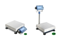 Two weighing scales models bench, with weight display