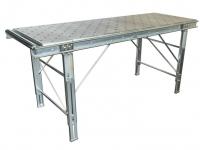 Un piano a sfere in acciaio zincato larghezza 500 lunghezza 2000