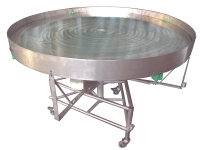 A accumulation turntable with stainless steel structure aisi 304