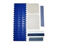 Various types of modular belt