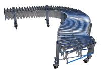 Extendable roller conveyor in galvanized steel rollers with galvanized steel structure