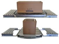 Un modulo rotante per la rotazione di prodotti e scatole, con una scatola di esempio