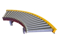 Motorized curve roller bend to 45 degrees, tapered roller gray plastic