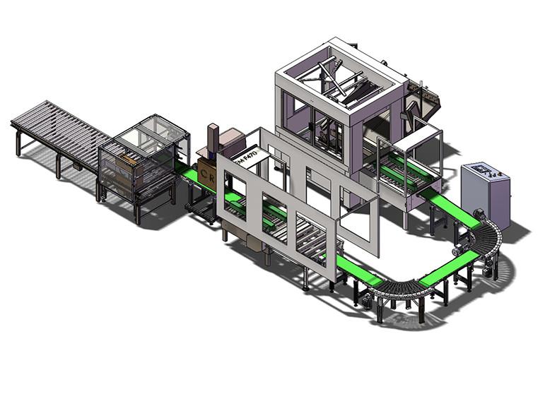 Linea automatica di confezionamento e nastratura